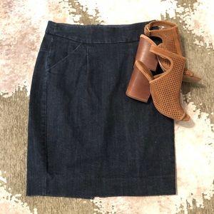 Denim JCrew Pencil Skirt